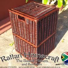 cane laundry hamper laundry basket medium rattan home craft