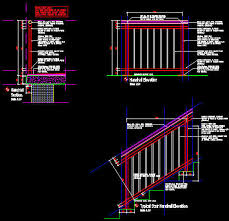 Handrail Construction Detail Cad Details Handrail Balustrade Steel Stainless Steel Top Rail