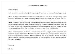 ideas collection free sample of a character reference letter for