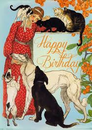 madame treacle cats u0026 dogs birthday card mthb070