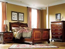 furniture bedroom wall paint and curtain ideas with sleigh bed