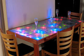Led Dining Room Lights by Interactive Led Dining Table Evil Mad Scientist Laboratories