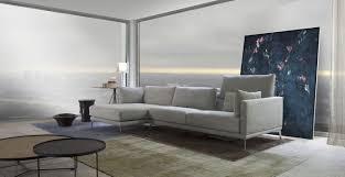 canapé d angle cuir et tissu canapé d angle contemporain en cuir en tissu genius loci