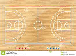 Table Basketball Basketball Tactic Table With Marks Stock Vector Image 40221342
