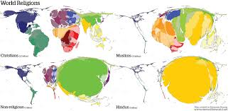 hinduism map religions views of the