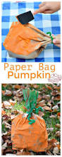 easy and fun paper bag pumpkin craft for kids to make elementary