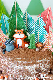 woodland cake toppers woodlands forest cake toppers