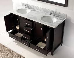 Double Bathroom Vanity 60 Virtu Usa 60 Inch Caroline Avenue Double Sink Vanity In Espresso