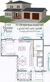 Farm Cottage Plans by Free House Plan An Old Style Farm House With A Grand And Open