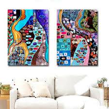 buy modular painting inspired by klimt abstraction gustav klimt