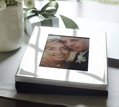 Rustic Wedding Photo Albums Silver Plated Engravable Photo Album Pottery Barn
