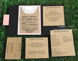 wedding invitations inserts wedding invite inserts rustic wedding invitation pocket fold