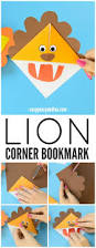 lion corner bookmarks step by step tutorial easy peasy and fun
