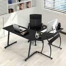 Glass L Shaped Computer Desk Desks Z Line Designs Mobile Workstation Desk Black Z Line Glass