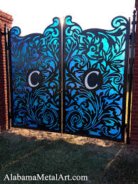 iron on monogram initials custom decorative gates and metal gate attachments