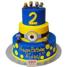 minions cake 2183 3 tier minion birthday cake abc cake shop bakery