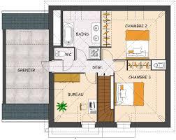 plan maison etage 3 chambres plan maison neuve gratuit cuisine cot garage homewreckr co