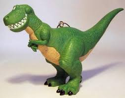 rex the dinosaur storybook ornament from our collection