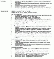 Restaurant Management Resume Samples by Splendid Design Restaurant Resume Sample 8 Manager Resume Example