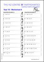 homework sheets maths centre