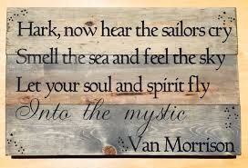 into the mystic van morrison custom sign music quote sign