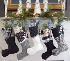 White Stuff Christmas Decorations by 25 Best White Christmas Stockings Ideas On Pinterest White