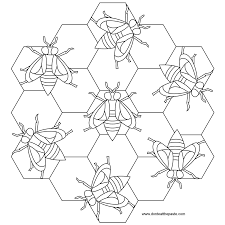 don u0027t eat the paste bees mandala to color