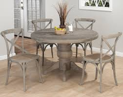 Oak Pedestal Table Chair Shop Home Styles Blackcottage Oak Dining Set With Round