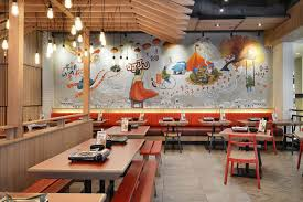 Fast Casual Restaurant Interior Design Ojju Restaurant By Metaphor Interior South Jakarta Indonesia