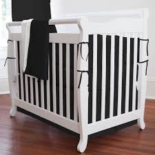 Portable Crib Bedding Sets For Boys by Interior Pink And Black Floral Black Crib Bedding On Black Wooden
