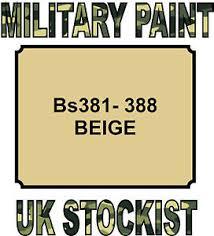 bs381 388 beige military paint metal steel heat resistant engine