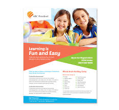 preschool education flyer templatepreschool brochure template