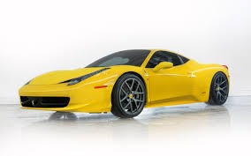 ferrari side ferrari 458 italia yellow side view hd wallpaper with id 7234