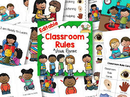 printable instructions classroom classroom rules for pre k and kindergarten
