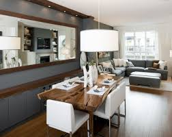 small living dining kitchen combo