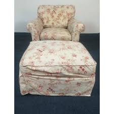 Rowe Ottoman Vintage Rowe Furniture Floral Upholstered Armchair Ottoman