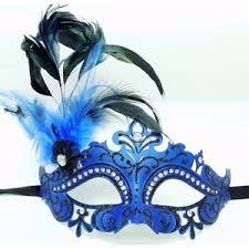blue mardi gras blue glitter mardi gras masquerade costume eye mask w feath