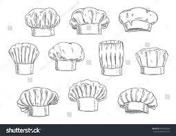 sketched chef hat cook cap toque stock vector 485953264 shutterstock