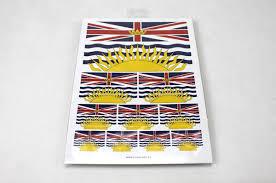 Flag British Columbia British Columbia Flag Sticker Weatherproof Gloss Vinyl Stickers