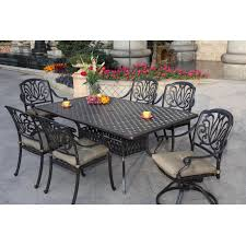 darlee elisabeth 7 piece cast aluminum patio dining set ultimate