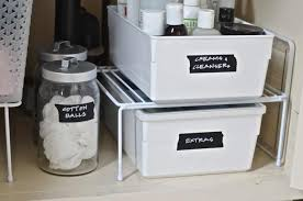 how to organize the sink cabinet how to organize a bathroom sink