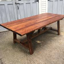 Dining Room Table Restoration Hardware by Dining Tables Solid Wood Trestle Dining Table Reclaimed Wood Bar