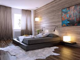 Lighting Ideas For Bedroom Excellent Bedroom Lighting With Wooden Wall And White Animal Rug