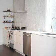 Carrara Marble Hex Tile Backsplash With Mapei Grost Grout Design Ideas - Carrara backsplash
