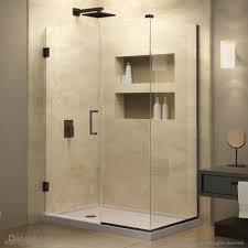 44 Shower Door by Unidoor Plus Hinged Shower Enclosure