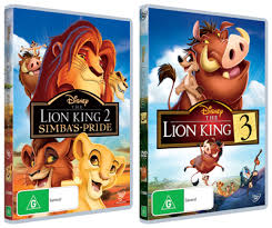 lion king 2 3 dvd