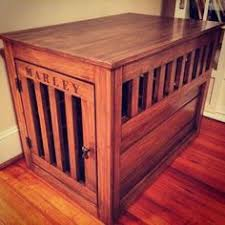 Making Wooden End Table by Diy Dog Crate Hack Diy Dog Crate Diy Dog And Dog Crate