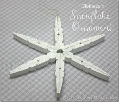 snowflake ornament from clothespins sweet pea