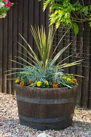 Half Barrel Planter by Creative Ways To Use Half Barrels Ebay