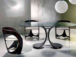 creative dining room tables black paint color base furniture ideas
